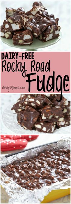 I cannot believe this awesome recipe for dairy-free rocky road fudge. I mean, fudge without dairy...how awesome is that!