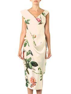 Вивьен Вествуд Gold Label Престиж цветочно-печать шелковой атласной платье