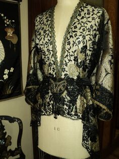 Art Deco 1920s Poiret Inspired Tunic Cocoon Jacket/ Coat by soiree
