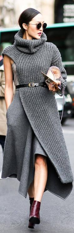 Grey Layers / Fashion Look By  Chriselle Lim