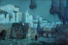 Albert Moulton Foweraker - Moonlight. Palma, Majorca