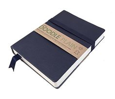 "The Artway Doodle Plain Journal - Navy. Genuine Soft Leather Journal with 5"" x 7"" Heavy Plain 150gsm Cartridge Paper. 164 Leaves with integral band, ribbon page marker and pencil holder. ArtWay http://www.amazon.co.uk/dp/B00LSU86G6/ref=cm_sw_r_pi_dp_Wp4xwb13CEGHB"