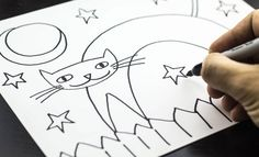How to draw a Halloween cat - Art for Kids Hub