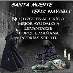 Imágenes de la Santa Muerte con frases chidas (13)
