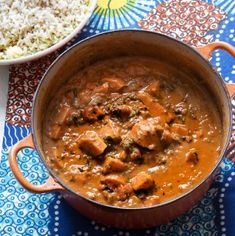 A delicious and simple vegetarian dinner this Sudanese-inspired sweet potato, spinach and peanut stew makes a great meat free meal. Great Vegetarian Meals, Vegetarian Recipes, Cooking Recipes, Sudanese Food, Squid Recipes, Stewed Potatoes, Eggplant Recipes, Vegan Dinners, Vegetable Dishes