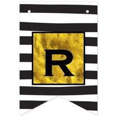 Shop Personalized Your Text Here Gold with Black Stripe Bunting Flags created by samack. Personalize it with photos & text or purchase as is! Flag Design, Print Design, Wedding Bunting, Bunting Banner, Banners, Cool Technology, Black Letter, Graphic Design Branding, Abstract Pattern