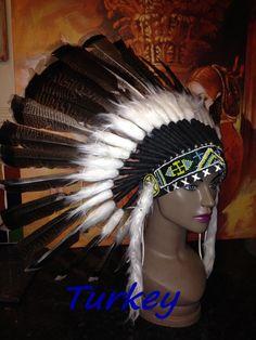 Indian Headdress Feather Headdress Native Head Dress War Bonnet Lots of Choice | eBay