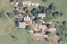 Aerial Amber Hall - Changes to be made to Kate and William's Sandringham country estate, making it more private/protected from the public.  Anmer Hall is a country house situated in the Norfolk village of Anmer in England, about two miles east of The Queen's residence at Sandringham.