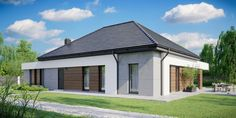 DOM.PL™ - Projekt domu CPT HomeKONCEPT-31 CE - DOM CP1-34 - gotowy koszt budowy Villa Design, House Design, House Construction Plan, Bungalow, Layout, Outdoor Decor, Home Decor, House 2, Build House