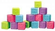 Retro hračka Teddies Abecední kostky plast 16ks