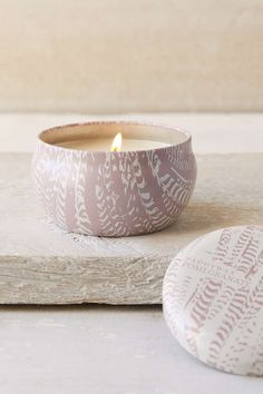 Paddywax Printed Feather Candle