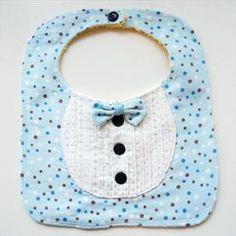 HANDMADE Tuxedos Baby Bib, Suit, Cute dot, Bow tie     Price: $7.50