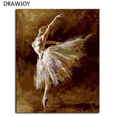 Cheap oil painting, Buy Quality diy oil painting directly from China picture painting Suppliers: Frameless Pictures Painting By Numbers Hand Painted Canvas Drawing Diy Oil Painting Wall Art 40*50cm Ballet Queen G408