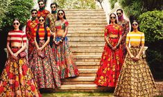 Vogue India - April 2015 Those skirts are adorable! Saris, Lehenga Designs, Indian Style, Indian Ethnic, Indian Attire, Indian Wear, India Fashion, Asian Fashion, Indian Dresses