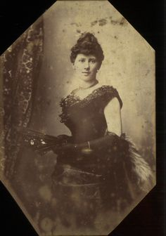 whenasinsilks:  Cabinet photograph of a young woman in a ball gown, 1880-90, English.