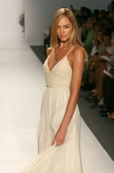 Dress: white white maxi wedding candice swanepoel embellished prom formal formal embellished model
