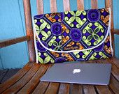 """13"""" Laptop sleeve with padding and velcro close. $35.00, via Etsy."""