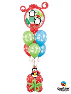 Popular Penguin Bubble Luxury Extra Balloon Bouquet