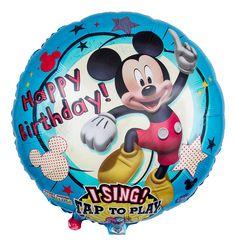 Wer kennt sie nicht, eine der bekanntesten Mäuse aller Zeiten möchte dem Geburtstagskind herzlich zum Ehrentag gratulieren. Durch leichtes Anstoßen des Ballons ertönt sogar ein Ständchen.