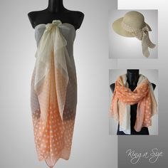 Schal / Pareo Sarong Strandtuch Wickelrock Scarf Loop Tuch Beach Dress A29