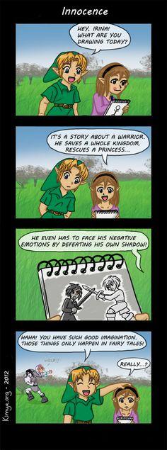 Funny comic based on the Legend of Zelda