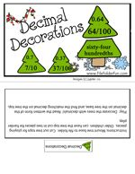 Here's a Christmas-themed file folder game for working on decimals.
