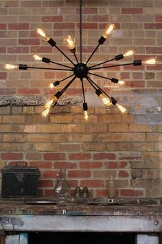 Atom Multi Light. Modern industrial style lighting. Online lighting | Fat Shack Vintage