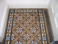 Minton floor tiles- I HAVE THESE TILES Victorian Hallway, Victorian Tiles, Hallway Flooring, Parquet Flooring, Floors, Minton Tiles, Front Hallway, Outdoor Tiles, Small Hallways