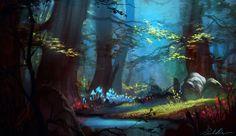 Happy Birthday Jenny!! *Magic Forest* by Selenada on deviantART
