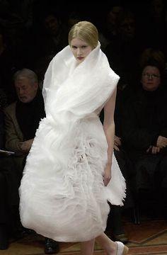 Soft sculptural dress with 3D textures - volume fashion; wearable art; fabric manipulation // Junya Watanabe