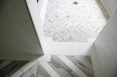 Marble Bathroom Shower Tile by Builders Floor Covering & Tile | by CR Home Kitchen & Bath Design