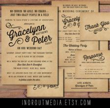 Mountain Wedding Invitation Rustic Mountain Wedding Lake Wedding