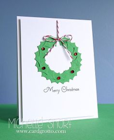 The Card Grotto: Christmas Wreath - DTDF