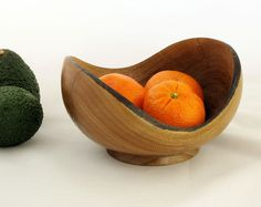 Rustic Natural Edge Avocado Wood Turned Bowl by Woodistry on Etsy, $35.00