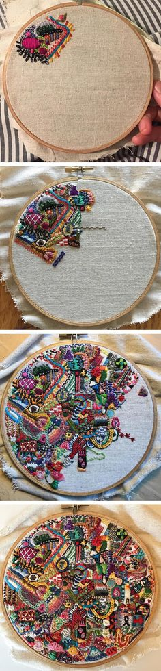 1 Year of Stitches project by Michelle Anais Beaulieu-Morgan #embroidery