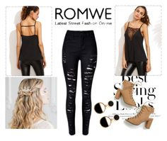 """""""¸ROMWE Contest"""" by kristinas-l ❤ liked on Polyvore featuring H&M and Warehouse"""