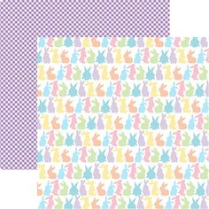 Happy Easter Stripe Paper 2013 5 Sheets Reminisce Scrapbook Papers