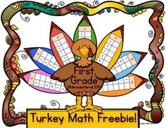 Turkey Math Freebie!  First Grade