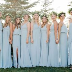 Show Me Your Mumu Bridesmaid Dresses Steel Blue Bridesmaid Dresses, Bohemian Bridesmaid, Dusty Blue Bridesmaid Dresses, Bridesmaid Colours, Steel Blue Weddings, Dusty Blue Weddings, Spring Weddings, Mumu Wedding, Formal Wedding