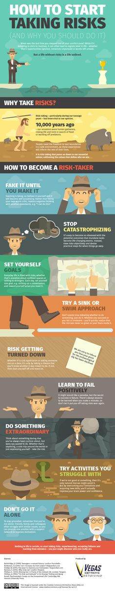 Here are some creative ways to take more risks in business and make some positive changes in life.
