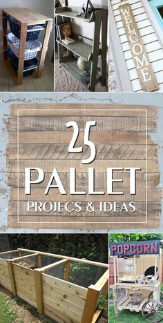 25 Ingenious Pallet Projects and Ideas to inspire you to create your own pallet project.