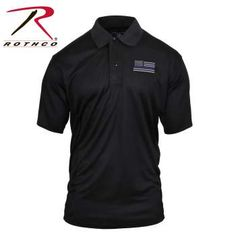 Stay cool and dry while supporting your local Police and Law Enforcement Officials in Rothco's Thin Blue Line Moisture Wicking Polo