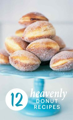 "Holey Deliciousness: 12 Heavenly Doughnut Recipes | Martha Stewart Living - They've been called ""the new cupcake,"" but we've loved doughnuts since before they were hip. Leavened or cakelike, glazed or oozing puddles of pastry cream -- the best doughnuts are hot from the fryer and dangerously light on the stomach. You'll be ready to renounce your local chain after tasting these hole-in-one homemade treats."