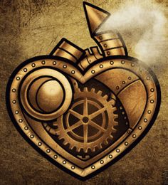 How to Draw a Steampunk Heart, Step by Step, Concept Art, Fantasy, FREE Online Drawing Tutorial, Added by Dawn, September 14, 2013, 3:51:31 pm