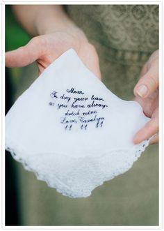 These would make awesome gifts. The one for her dad said, today a bride, tomorrow a wife, always your little girl.
