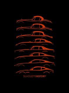 Big Cat CoupeSilhouetteHistorySilhouettes of Jaguar coupes: XK120 1948, XK140 1954, XK150 1957, E-Type (XKE) 1961, XJ-S 1975, XK-8 1996, XK 2006, F-Type 2013Home | FB | Instagram | Twitter