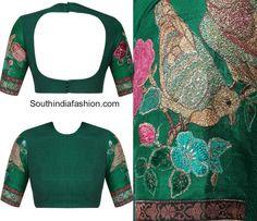 Your Personal Dashboard Choli Blouse Design, Saree Blouse Neck Designs, Fancy Blouse Designs, Sabyasachi Sarees, Lehenga Blouse, Indian Sarees, Sari Bluse, Designer Blouses Online, Indie Mode