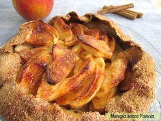"""Una deliziosa crostata di mele e cannella molto rustica anche chiamata """"galette"""": con farina integrale e zucchero di canna."""