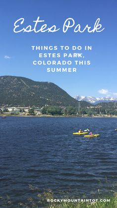 Estes Park is the perfect place to cut back on our screen time and really enjoy the outdoors as a family Road Trip To Colorado, Estes Park, Work Week, Rocky Mountains, Boating, Perfect Place, Places To Go, Things To Do, Hiking