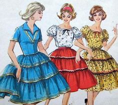 Square Dancing dresses like my grammy used to wear